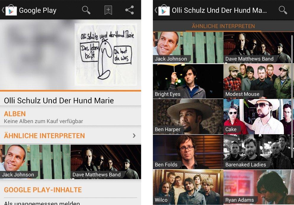 Google Play Music: Shop in Deutschland mit Trick einsehbar