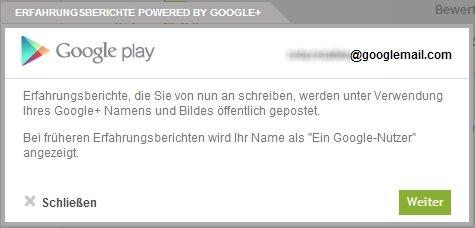 Google Play Store: Bewertungen nur noch mit Google+-Profil möglich