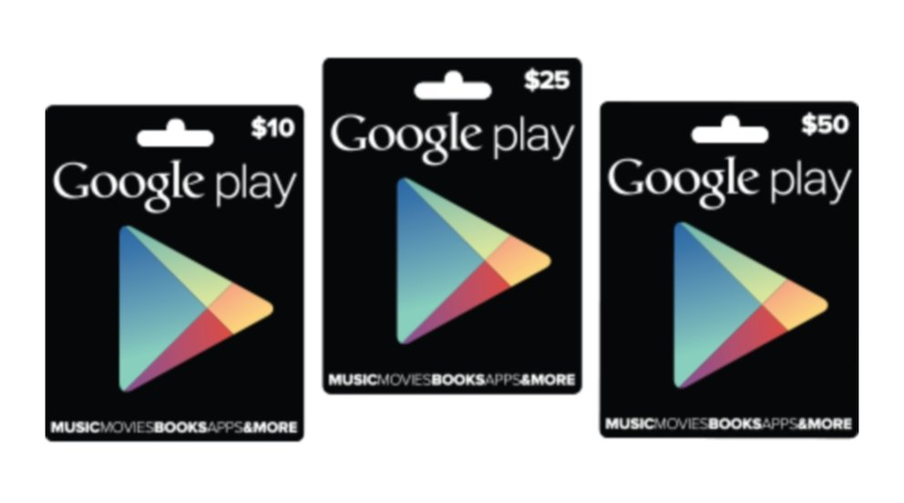 Play Store-Guthabenkarten: Jetzt auch in Großbritannien verfügbar