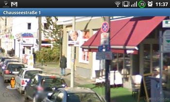 google street view mit wahlplakat