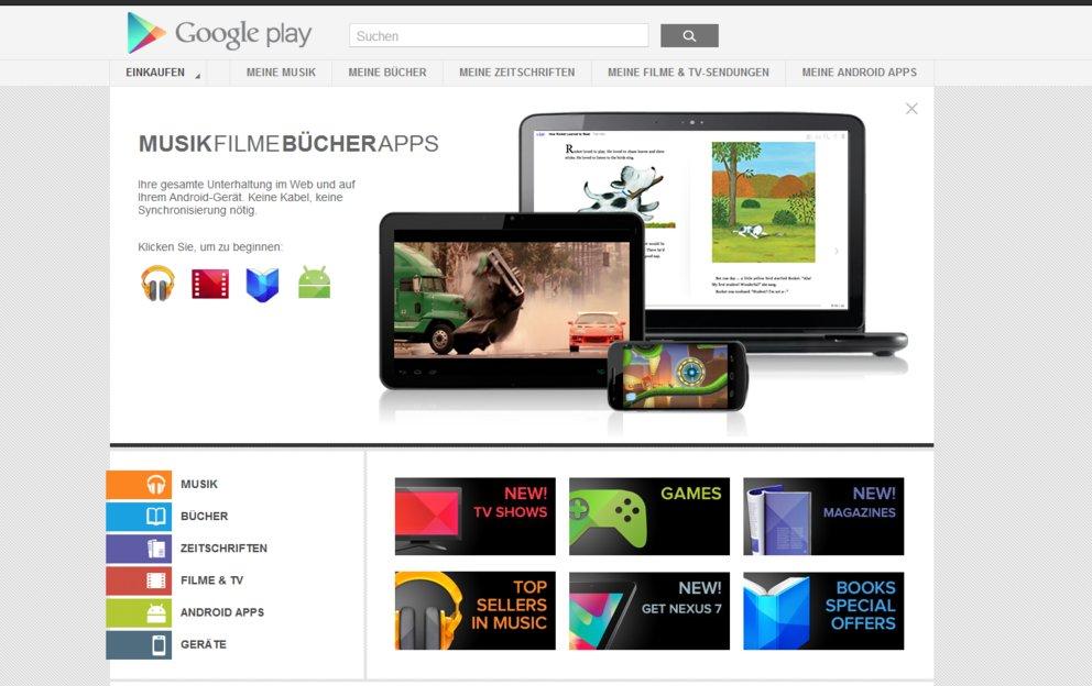 Google Play Store: Musik und Zeitschriften kurz vor dem Deutschlandstart?