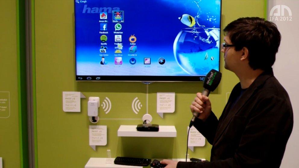 "Hama Internet TV Box 2: Android ""Ice Cream Sandwich"" fürs TV [IFA 2012]"