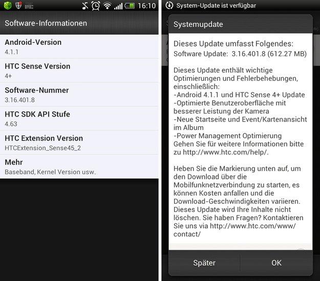 """HTC One S: Android 4.1 """"Jelly Bean""""-Update in Deutschland angekommen"""