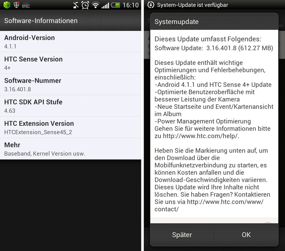 "HTC One S: Android 4.1 ""Jelly Bean""-Update in Deutschland angekommen"