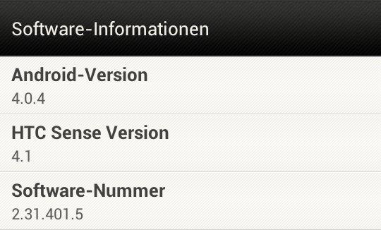 HTC One S: Update auf Android 4.0.4und Sense4.1