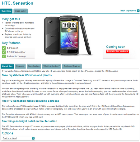 htc sensation vodafone screenshot