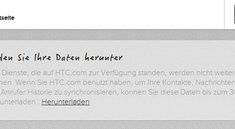 HTC: Backup-Service HTCSense.com wird eingestellt und ersetzt
