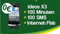 Ideos X3 kostenlos zum 9,95 Euro Smartmobil-Tarif