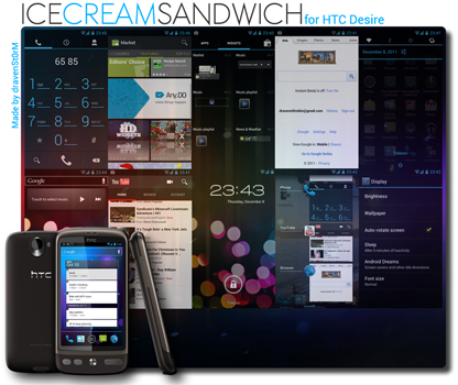 Android 4.0 ICS HTC Desire