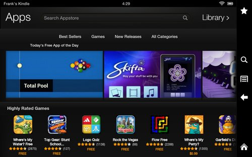 kindle fire appstore