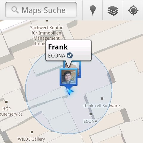 Google Maps 5.1: Check-ins per Latitude und Places