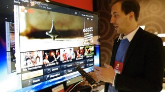 "Lenovo IdeaTV K91: Fernseher mit Android 4.0 ""Ice Cream Sandwich"" im Hands-On [CES 2012]"