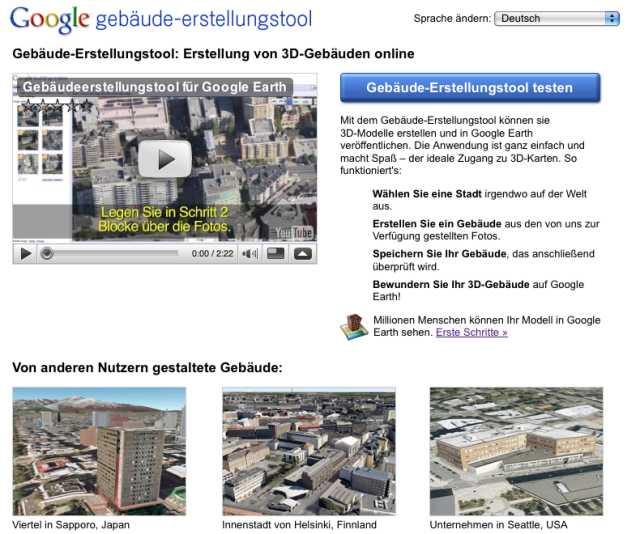 Neues tool in google earth 3d gebäude selbst erstellen