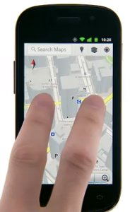 Google Maps 5 im Demovideo auf dem Nexus S