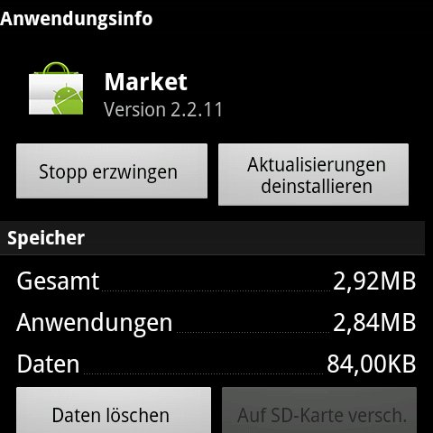 Android Market: Neue App-Version geleakt