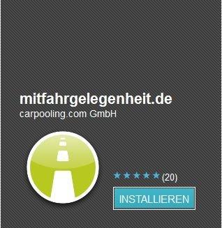 mitfahrgelegenheit.de bringt Android-App heraus