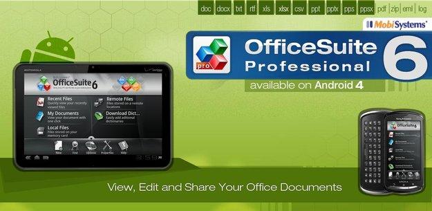 Office Suite Pro 6: Office für Android bis morgen für 0,79 Euro