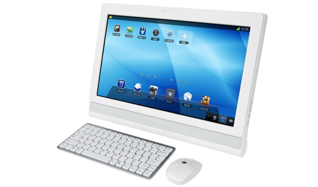 Motorola CloudBB: Android-Desktop-System mit 18,5 Zoll Touch-Monitor