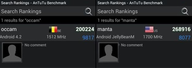 Motorola Occam, Manta: Android 4.2 bereits im Einsatz