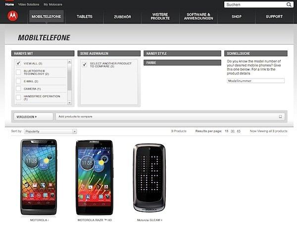 Motorola: Smartphones in Deutschland aus dem Angebot genommen