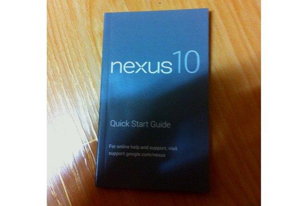 Samsung Nexus 10: Google-Tablet per Schnellstart-Anleitung geleakt