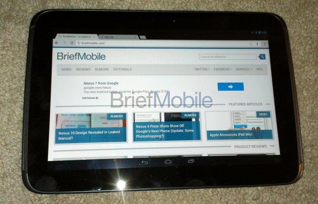 Nexus 10: Fotos & Spezifikationen geleakt, mehr Infos über Android 4.2