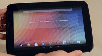 Nexus 10: Der Displaygigant im Unboxing-Video