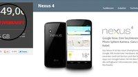 Nexus 4: Ausgeliefert und ausverkauft