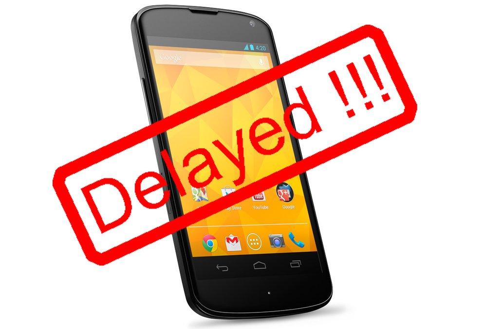 Nexus 4: Auslieferung einiger Geräte erst in drei Wochen