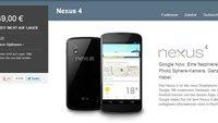 Nexus 4: Heute wieder im Play Store erhältlich? [Update: Jetzt verfügbar]