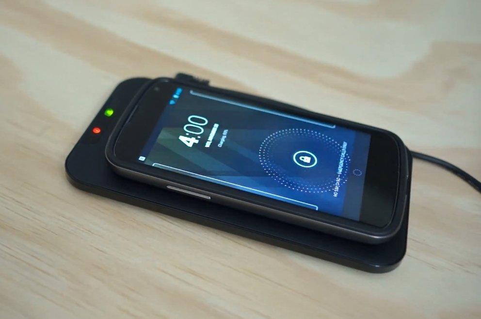 Nexus 4: Kabelloses Aufladen im Video demonstriert