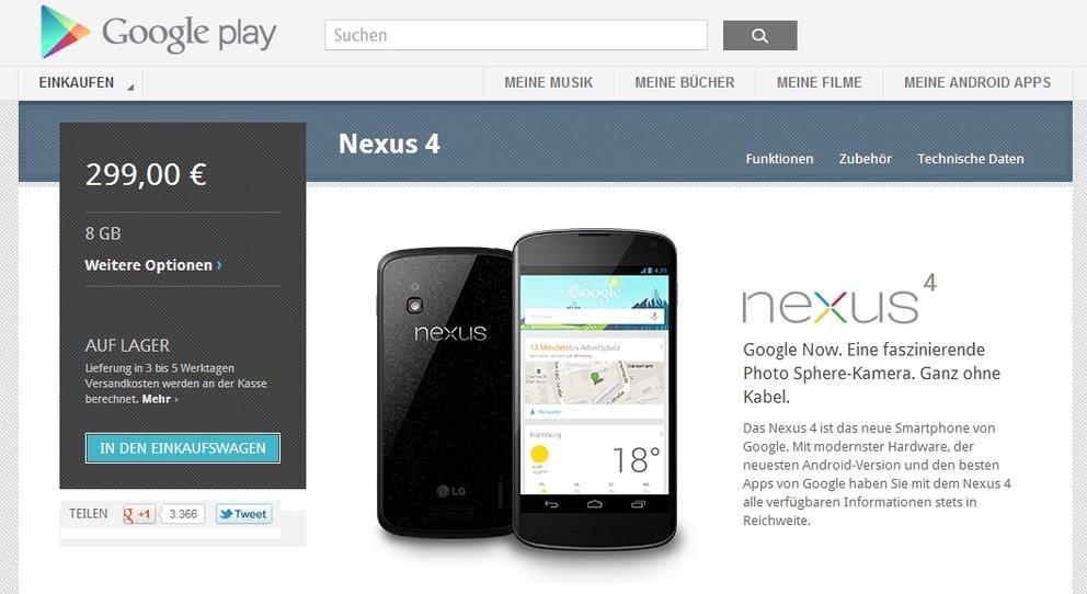 Nexus 4, 7 3G und 10: Jetzt im Play Store verfügbar [Update #3]