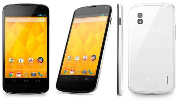 Nexus 4: Weiße Version von LG offiziell angekündigt