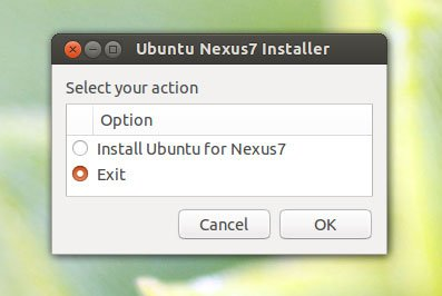 nexus 7 ubuntu installer