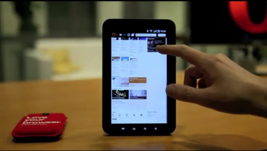 Opera-Browser für Tablets im Video