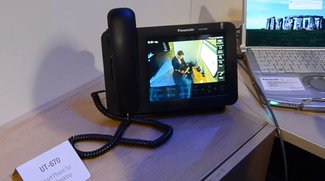 Panasonic UT 670-SIP: Festnetz-Telefon mit Android im Hands-On [CES 2012]