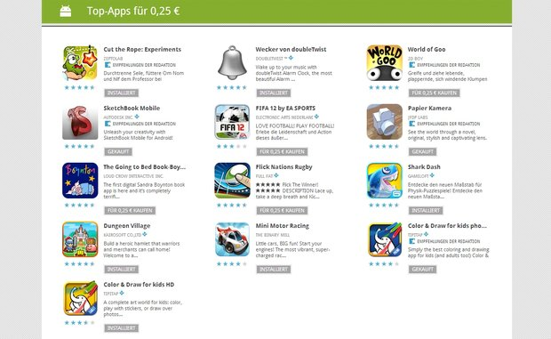 25 Cent-Apps: Tag 2 mit Fifa 12, Cut the Rope, World of Goo, Shark Dash &amp&#x3B; mehr