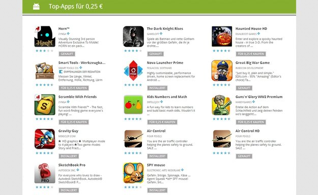 25 Cent-Apps: Tag 5 mit Horn, Nova Launcher, Dark Knight Rises &amp&#x3B; mehr