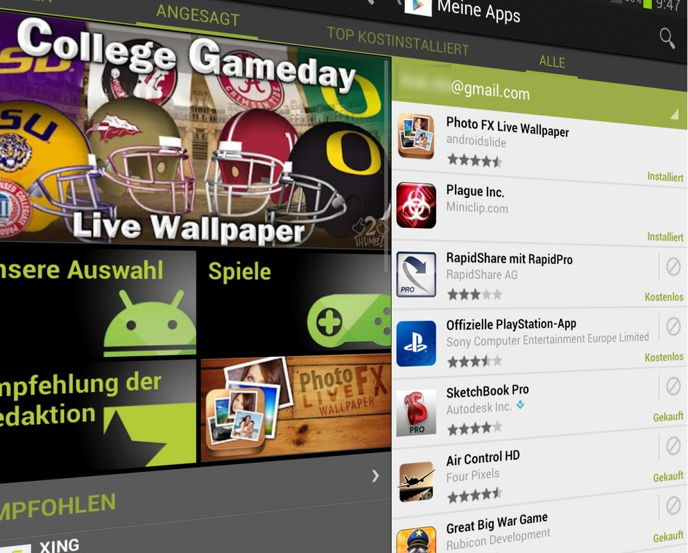Google Play Store: Update bringt neue Buttons und Dialogfelder [Download]