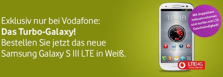 Samsung Galaxy S3 LTE: Bei Vodafone mit doppeltem Datenvolumen [Deal]