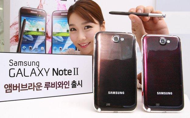 Samsung Galaxy Note 2: Braune und rote Version offiziell bestätigt