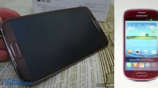 Samsung-Farbenspiele: Galaxy Note 2 in Rot & Braun, S3 Mini in Rot gesichtet