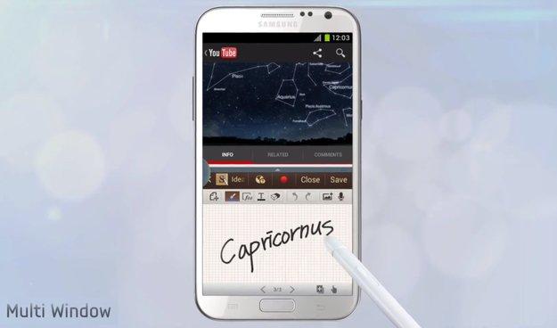 Samsung Galaxy Note 2: Innovatives Splitscreen-Multitasking (Multi-Window) im offiziellen Video