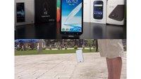 Samsung Galaxy Note 2: Unboxing und Falltest im Video