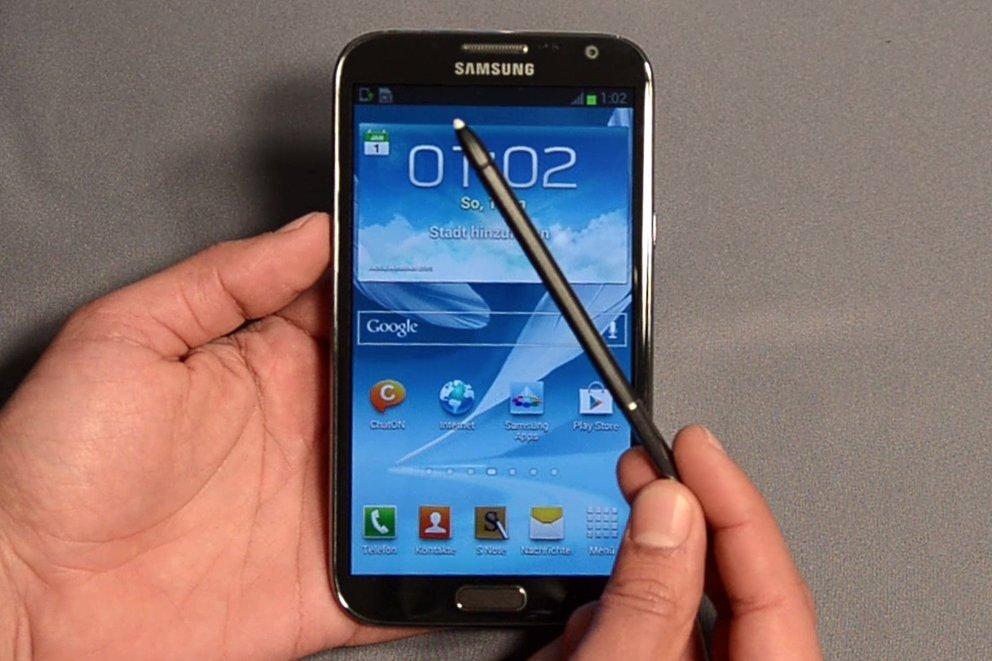 Samsung Galaxy Note 2: Riesen-Smartphone im Unboxing [Video]