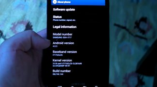Samsung Galaxy Note: Ice Cream Sandwich-Update gesichtet