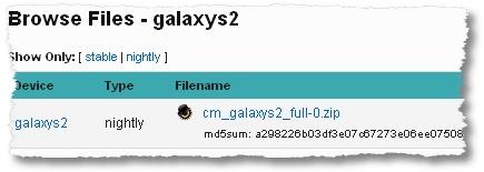 samsung galaxy s2 cm7 nightly