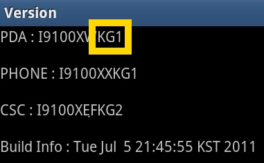 samsung galaxy s2 s ii firmware info