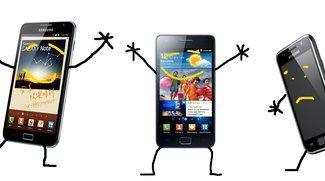 Samsung Galaxy S2, Note: Offizielles Ice Cream Sandwich-Update im März, Samsung Galaxy S Plus geht leer aus