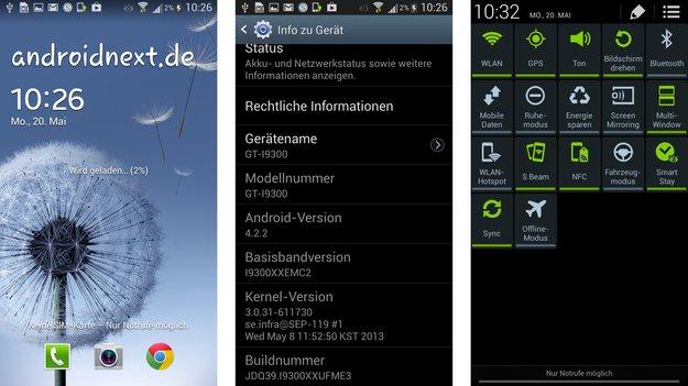 Samsung Galaxy S3, Note 2: Android 4.2-Update kommt offenbar später